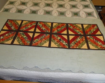 autumn colored table runner