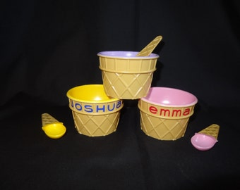 Personalized Party Favor -  Ice Cream Dishes