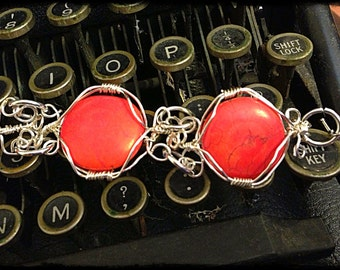Red Coral Chunky Bracelet