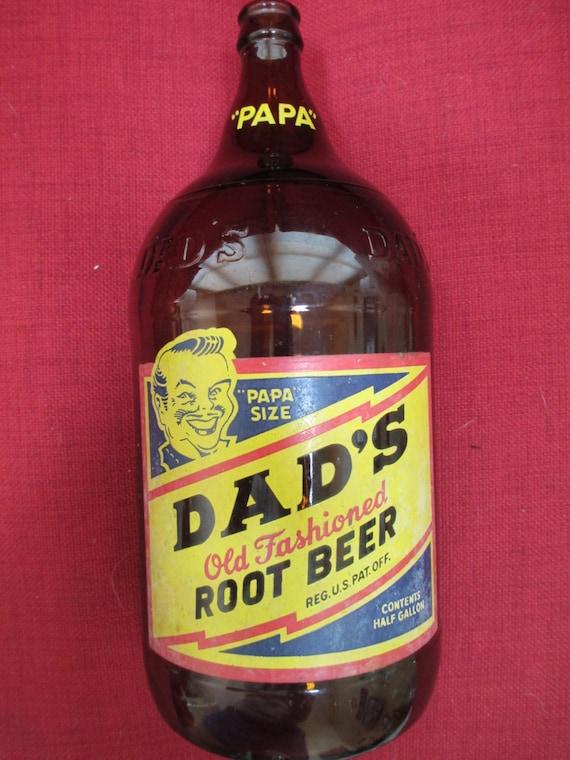 Vintage 1948 Dad's Old Fashioned Root Beer Bottle