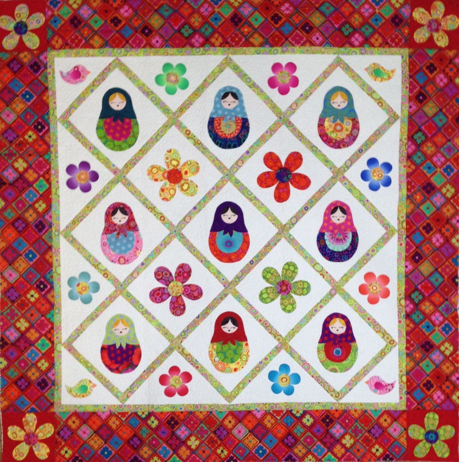 Doll Quilt Patterns For Sewing: MATRYOSHKA NESTING DOLL Quilt Pattern Only Designed By Sew