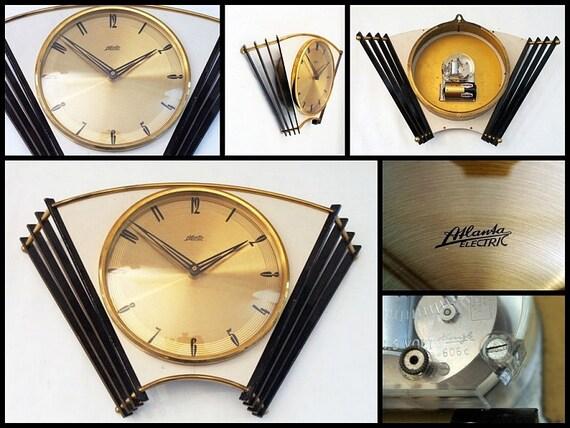 kienzle wall clock atlanta electric 1960s german modernism