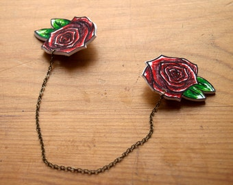 Rose Collar Clips