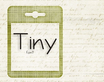 Instant Download - Digital Tiny Font