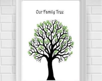 Family Tree Template Print / Stamp Leaves with Each Family Member's ...