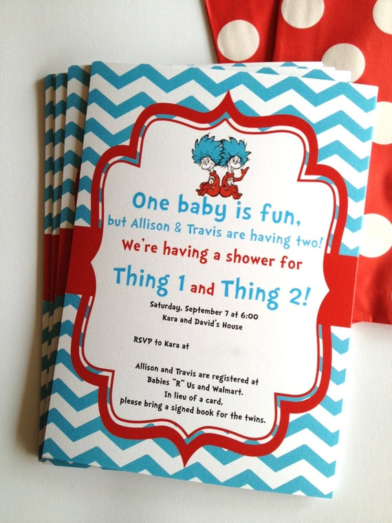 Custom Dr Seuss Baby Shower Invitations is amazing invitations template