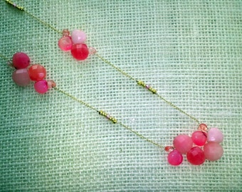 Cherries Jubilee! Pink Jade Necklace