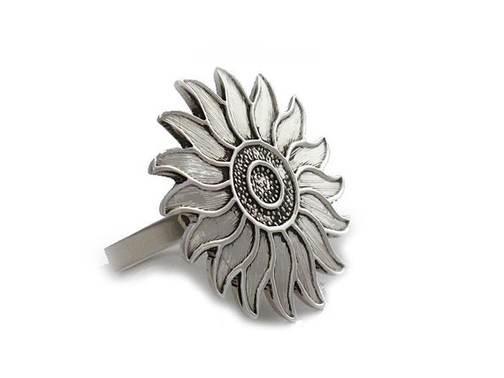 Items Similar To Sterling Silver Rings Quot Sunflower