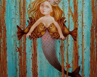 "Needlepoint canvas ""Ocean Lady.Pisces"" by Derevyanko Natalyia (ADN002)"