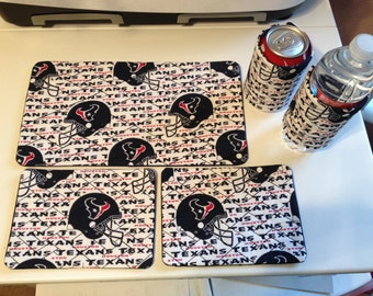 Texans Inspired Quilted Mug Rug Set