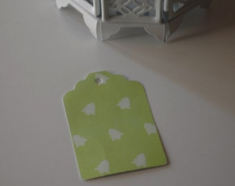 Christmas gift tags,30 gift tags  paper tags , favor tags,wedding tags,green pine tree gift tags