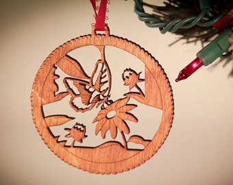 I love Gardening Christmas Ornament; laser cut gardening ornament