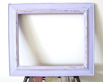 Rustic Photo Frame, Distressed Wooden Picture Frame, Purple 8x10 Frame Shabby chic frame, Wedding frame