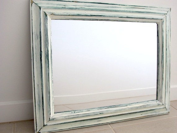 white distressed mirror distressed mirror green amp white rustic mirror wooden mirror 1024