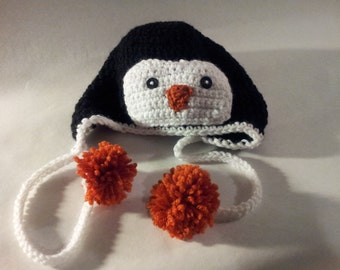Penguin Hat with earflaps (111)