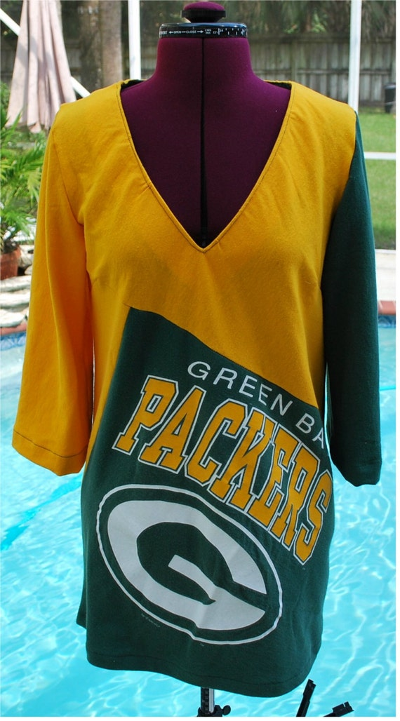 Green Bay Packers Shirt Top Tunic Custom Made