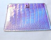 Over size Holographic Clutch Leather clutch pouch ipad sleeve ipad bag Handbag Wallet form women