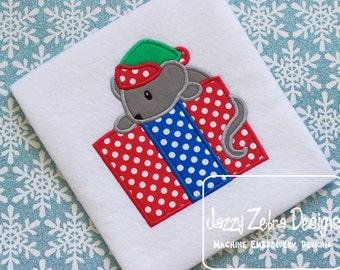 Mouse with Present Applique Design