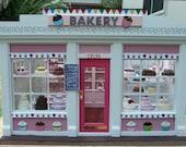 Furnished Two Window Miniature Bakery Shop (Cupcake Wallpaper)