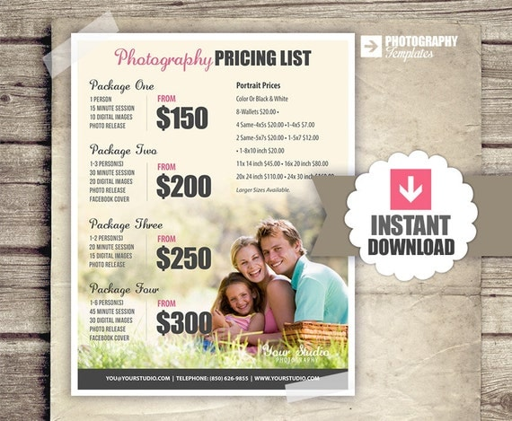 Wedding Rates Photography: Photography Price List Pricing List For Photographers