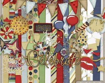 Midnight Kiss New Years Digital Kit