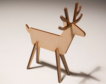 Wooden Reindeer Rudolph