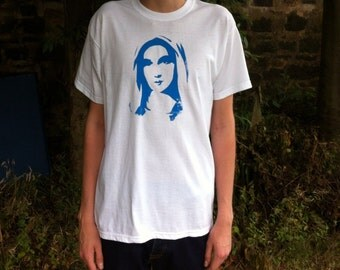Virgin Mary t shirt screen print