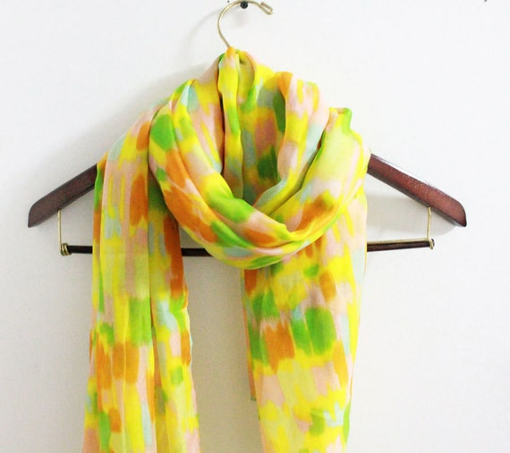 pastel fall color scarf fall leaves color scarf by litopinkowl