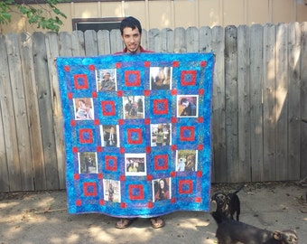 """Picture Quilt Custom Made - 25 photos - approx 72"""" x 80"""""""