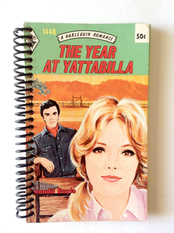 Vintage Book Cover Blank Journal Harlequin Romance