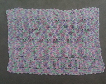 Crocheted Multi-Colored Baby Afghan