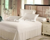 Free shipping 100% mulberry silk charmuse silk bedding flat sheet Beige color twin full queen king size