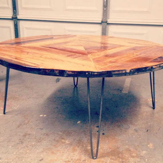 Round Coffee Table Dimensions: Round Coffee Table Four Feet In Diameter By ScrapHouseArt