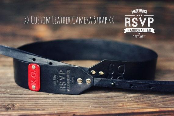 Custom Leather Camera Strap Handmade personalized gift - photo#36