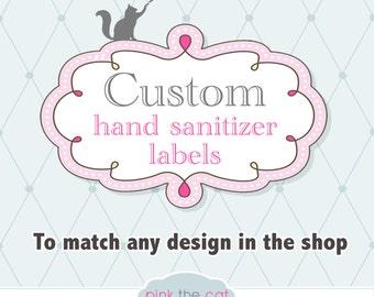 matching hand sanitizer label wrapper diy printable digital file editable. Black Bedroom Furniture Sets. Home Design Ideas