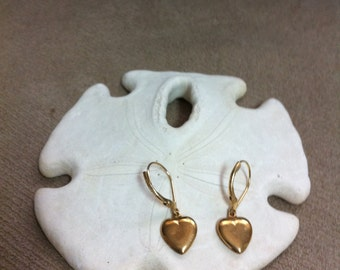 Goldplate Heart Charm Earrings