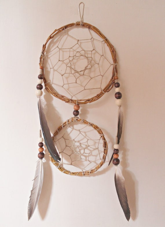 Native american inspired double dreamcatcher by shantiwinds for What do dreamcatchers do