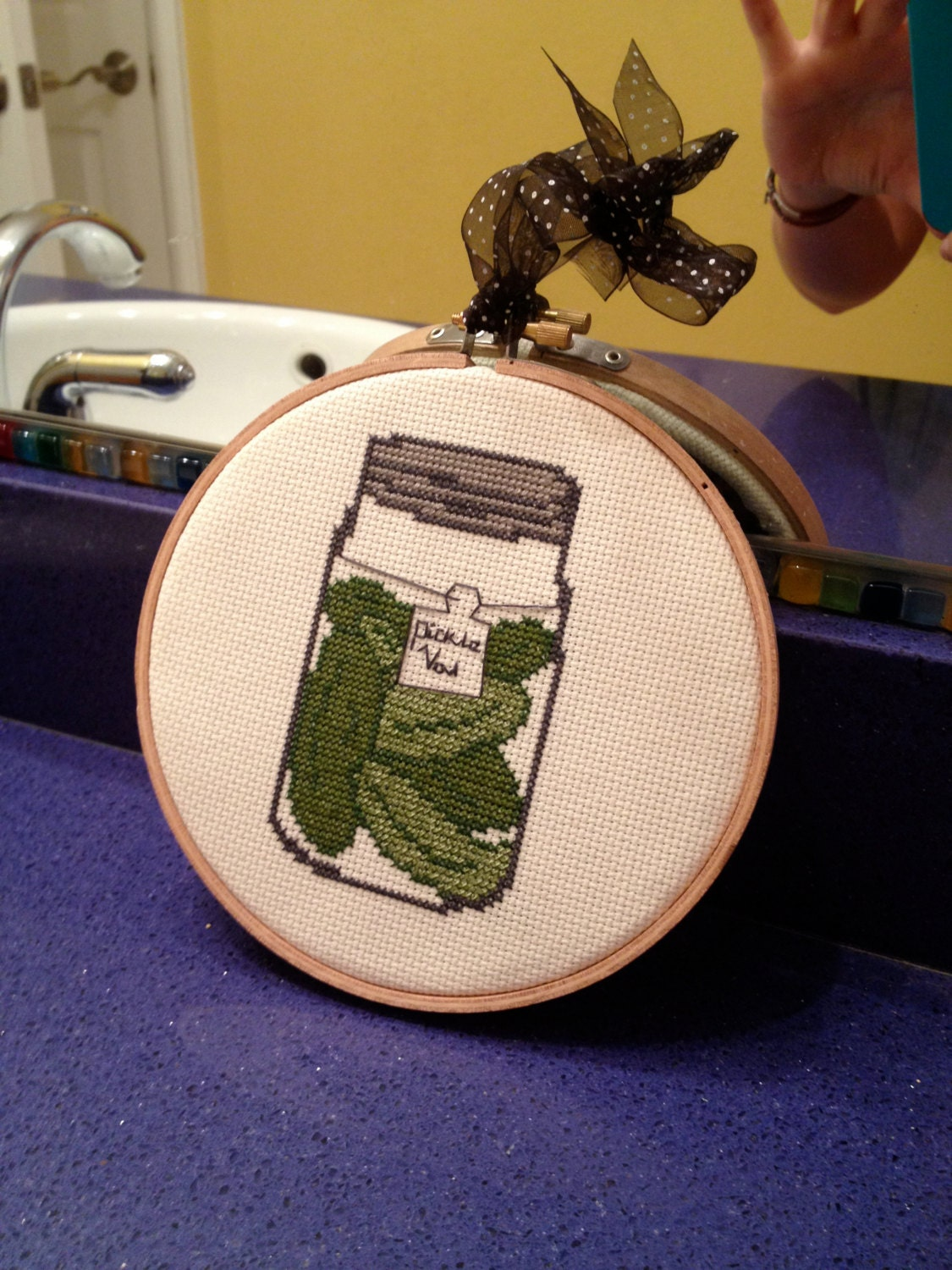 Jar of Pickles Cross Stitch