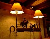 Wall Light-Western Scene ...