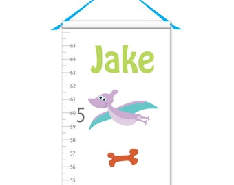 Growth Chart - Personalized Growth Chart - Dinosaur Growth Chart - Canvas Growth Chart - Animal Growth Chart - Boy Growth Chart
