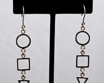 Geo11 - Earrings - Sterling Silver