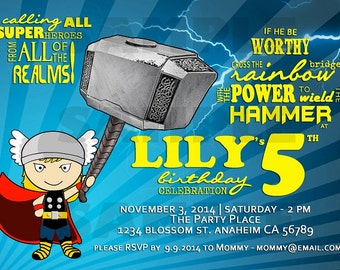 Thor Birthday Invitation