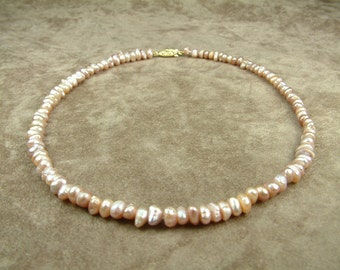 Pink Pearl Necklace 6.5 - 7.5 mm (Κολιέ με Ροζ Μαργαριτάρια 6.5 - 7.5 mm)