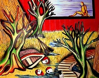 Room 100 x 100 oil on canvas Donatella Babaei