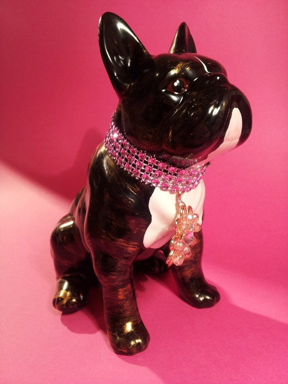 statue french bulldog ceramic anie hand painted. Black Bedroom Furniture Sets. Home Design Ideas