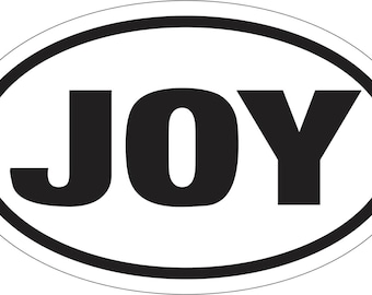 OVAL STICKER Joy Bumper Sticker Window Laptop Car Decal Vinyl Ipad Christian Religious