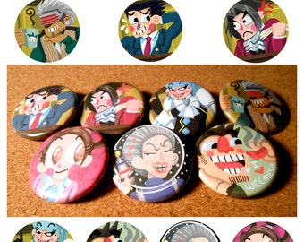 Phoenix Wright: Ace Attorney Button Set