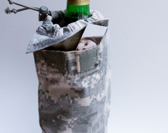 Military Wine Bag / Camera Lens Bag Handmade from U.S. Army ACU Uniform!