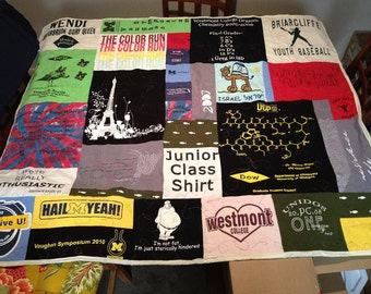 Custom Made T-Shirt Quilts   Each one made especially for you (Deposit)