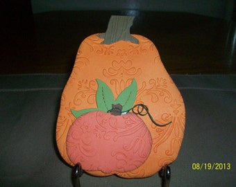 Big Orange Pumpkin  Thanksgiving Card